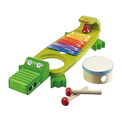HABA Symphony Croc Music Band Set with 4 Instruments for Ages 2 and Up: Toys & Games
