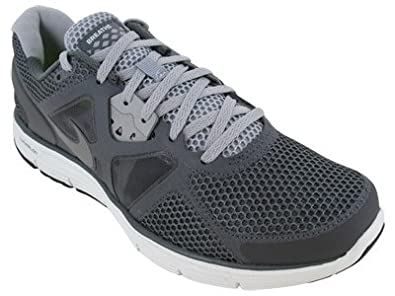 9f4f157ec18 Nike Lunarglide+ 3 Breathe Mens Running Shoes Dark Grey Metallic Cool  Grey-Wolf Grey