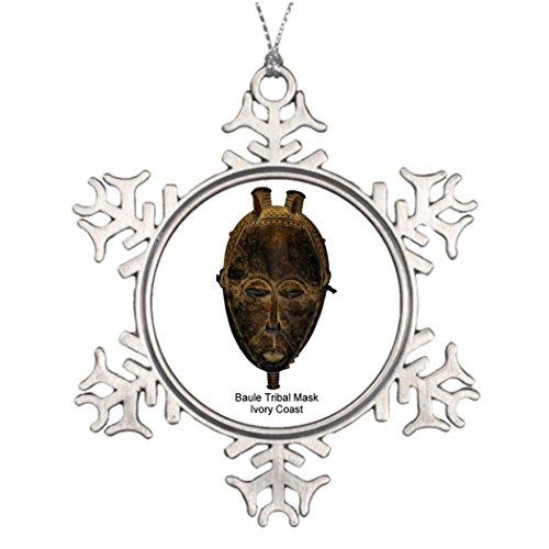 Decoration Baule Tribal Mask Pin Large Snowflake Ornaments ()