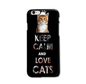 Custom Design Keep Calm and Love Cats Hard Plastic Case Cover For iPhone 6 4.7 Inch