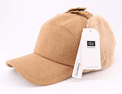 Gisdanchz 7-7 1 2 Wool Baseball Hat with Visor and Ear Flaps Winter ... 49a12a16a67f