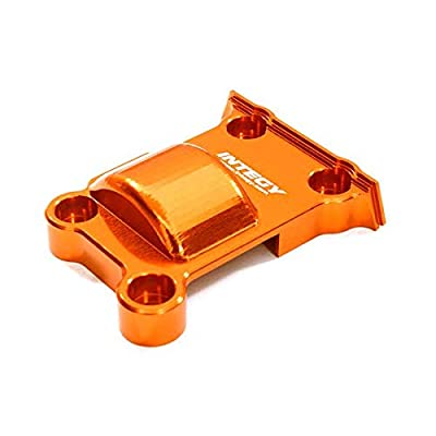 Integy RC Model Hop-ups C27465ORANGE Billet Machined Rear Lower Gear Cover for Traxxas (7787) X-Maxx 4X4: Toys & Games