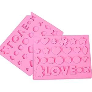 sincook amor flores Inglés palabras DIY Candy molde Chocolate tarta hielo gelatina Pudding silicona moldes