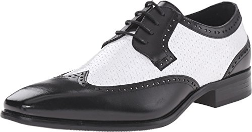 Stacy Adams Men's Melville Black/White Oxford 15 D (M) (Black And White Stacy Adams Shoes)