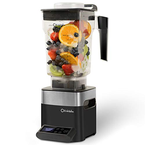 ODA KITCHEN Professional Blender, Countertop Blender for Shakes and Smoothies, 1450w High Powered Blender, 39,000RPM High Speed Blunt Blade, 50oz Low Profile Container, Smoothie Maker, Black