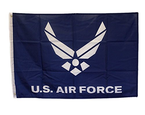 2x3 US Air Force Wings Blue Flag 2x3 Nylon Polyester Twill Banner House Fade Resistant Double Stitched Premium Penant House Banner Grommets