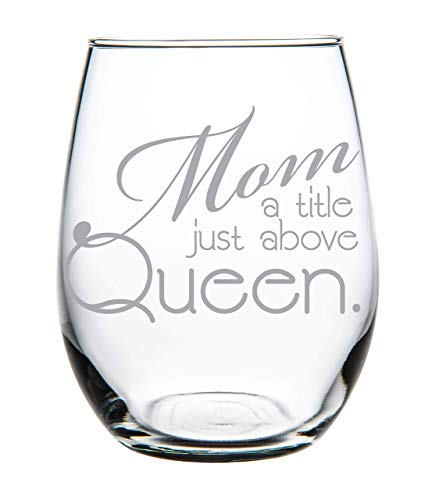 Mom Wine Glass