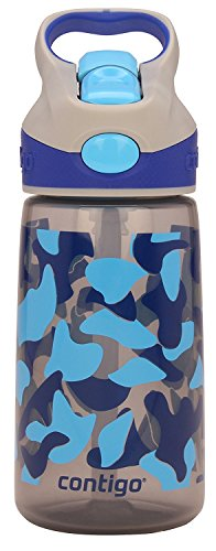 Contigo AUTOSPOUT Straw Striker Kids Water Bottle, 14oz, Smoke