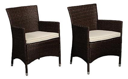 Atlantic Liberty Deluxe Wicker Armchair, Brown, Set Of 2