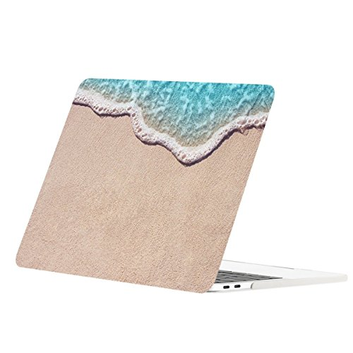 TOP CASE - Floral Pattern Matte Hard Case Compatiable with MacBook Pro 13-inch A1989,A1706 with Touch Bar/A1708 Without Touch Bar (Release 2017,2016,2018) - Clearwater Beach