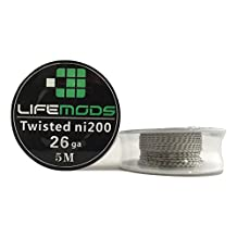 LifeMods Double Twisted Nickel (Ni200) Wire spool AWG 26 gauge 16' feet/roll