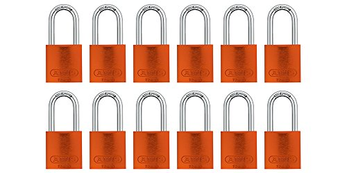 (ABUS 72/40 Aluminum Safety Padlock Orange Keyed Alike - Long Shackle (1-1/2