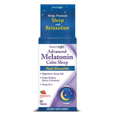 Natrol Advanced Melatonin Plus Fast Dissolve Strawberry -- 60 (Melatonin Plus Vitamin)