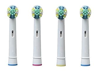 UCA® EB25A - 4 cabezales para cepillo de dientes eléctrico de repuesto compatible con Braun Oral B FlossAction