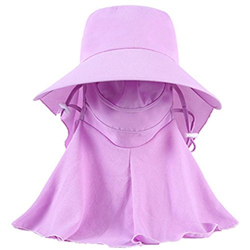 Ezyoutdoor Women Sun Hat Anti-UV Hat With Removable Neck Face Mask Protection With Folding Brim Outdoor Hat for Fishing Hunting Camping Swimming Hiking (Purple) (Strike King Lure Company Hat compare prices)
