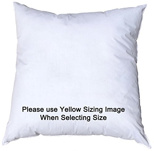 12x12 Inch Pillowflex Premium Polyester Filled Pillow Form Insert - Machine Washable - Square - Made In USA