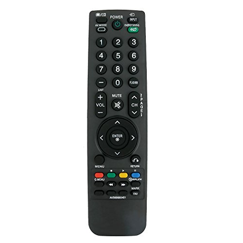 Zenith Tv Hdtv - New AKB69680401 Replaced Remote fit for LG Electronics/Zenith LCD LED HDTV 19LH20 19LU55 22LH20 22LH200C 22LU55 26LD322HZA 26LD322H-ZA 26LH20 26LH200C 26LU55 32CL20 32LF11 32LH20 32LH200C 32LH20UA