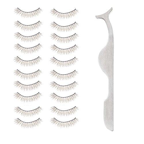 High Quality Professional Glamour Beauty Set Kit of Metal Handle Grips Eye Lashes Applicator Tool And Handmade Fake False Eyelashes Set By VAGA®