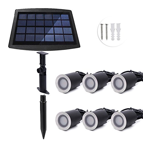 Natural Solar Powered - NANGE Solar Powered Ground Lights,6 LED 3000K 4000K 2.6Watts Outdoor Waterproof Solar Path Lights, Garden Landscape Driveway Lawn Decoration Solar Powered Light (Size : Natural White)