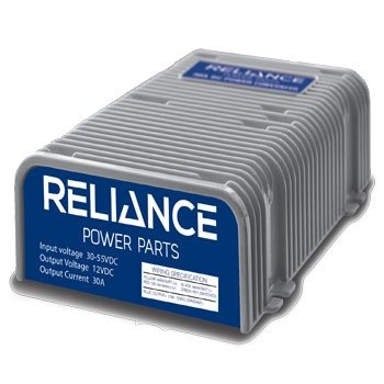 Reliance Power Parts 13-030 - 30 Amp Golf Cart Voltage Reducer (36v/48v to 12v) - 360 Watts! with Dual Power Source (Fat Cat Accessory Pack)