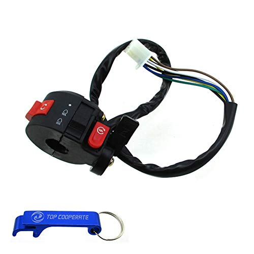 TC-Motor 3 Function 7 Wire Handle Kill Start Light Choke Switch For 50cc 70cc 90cc 110cc 125cc ATV Quad Taotao Sunl Roketa Kazuma