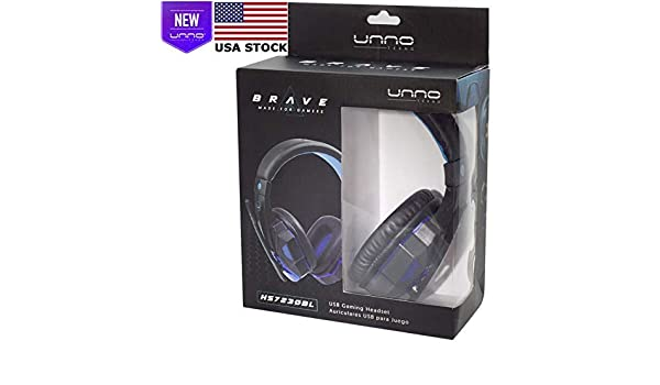 Amazon.com: UNNO TEKNO Brave USB Headset for Gaming - USA Retail Box: Computers & Accessories