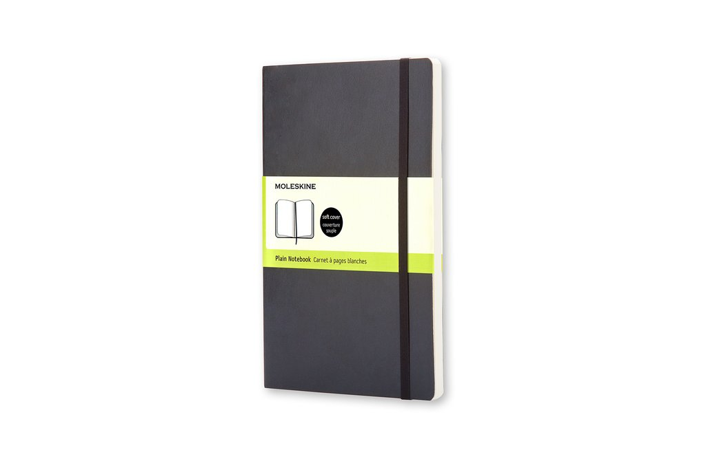 Moleskine Classic Notebook, Pocket, Plain, Black, Soft Cover (3.5 x 5.5)