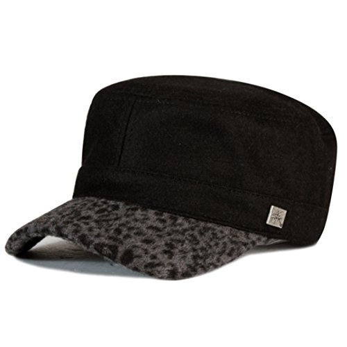 City Hunter Ca480 Wool Leopard Cadet Hat - Brown (L/xl Size) (Hunter Mens Costume)