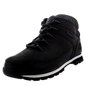 Timberland Mens EURO Sprint Hiker Walking Black Hiking Ankle Boots - Black - 8.5