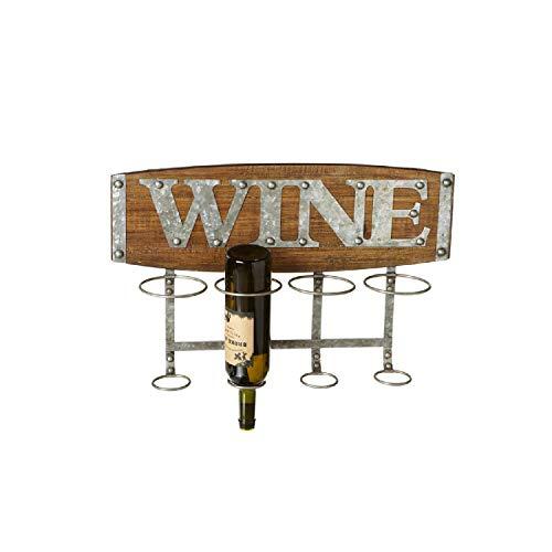 Ganz Four Bottle Wine Rack