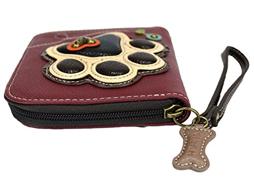 Chala Ivory Paw Print Zip-Around Wristlet Wallet, Dog Mom Gift by Chala Group (Image #3)