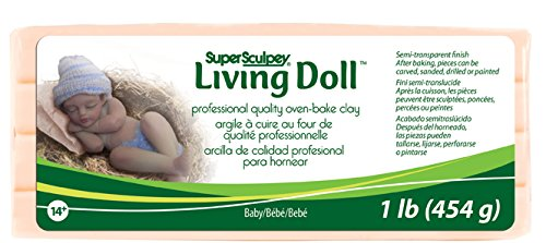 Price comparison product image Polyform 1-Pound Super Sculpey Living Doll Clay, Baby