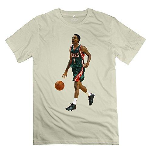 Jiuzhou Geek NBA Bucks Caron Butler T Shirt - Men's T-shirt Size L Natural
