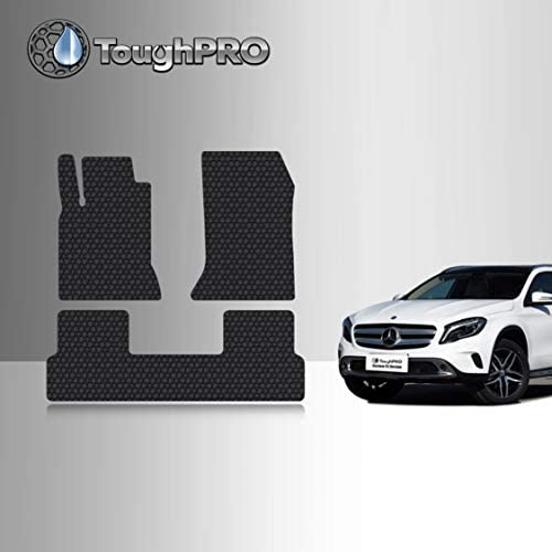 TOUGHPRO Floor Mat Accessories Set (Front Row + 2nd Row) Compatible with Mercedes-Benz GLA250 – All Weather – Heavy Duty – Black Rubber – 2014, 2015, 2016, 2017, 2018, 2019, 2020