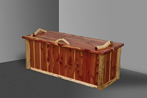 Amish Blanket Chest - Rustic Red Cedar Log Blanket Chest - Amish Made in the USA