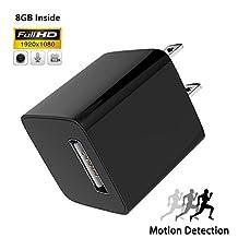 USB Wall Charger Hidden Camera Adapter | Motion Detection Wall Nanny Camera Adapter | 8G Inside Loop Recording