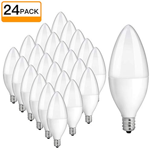 SHINE HAI E12 LED Bulb, Candelabra LED Bulbs 40 Watt Equivalent, 4000K Daylight White B11 LED Candelabra Base, Non-Dimmable, 24 Pack