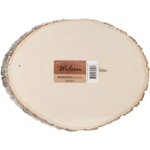 Wooden Slice - Wilson Basswood Round/Oval (Large (9