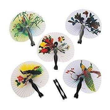 (Mini Paper Oriental Folding Fans (2-Pack of)