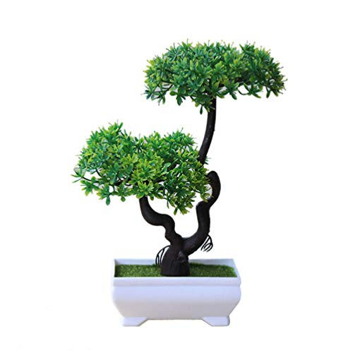 Floralby Artificial Potted Plant Tree Bonsai Desk Ornament Home Hotel Garden Decor ()