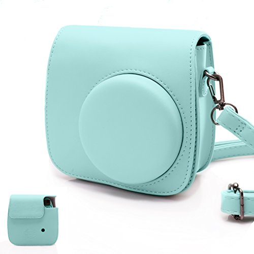Fujifilm Instax Mini 9 Ice Blue Film Camera Case for Fujifilm Instax Mini 8/8+/ 9 Camera with Strap by HelloHelio ()