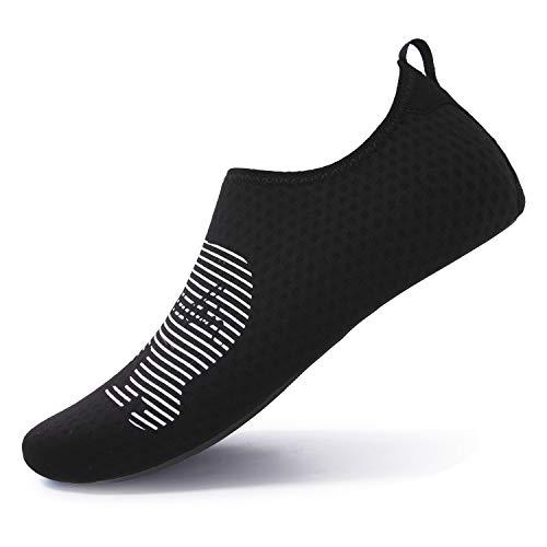 L-RUN Womens Summer Swim Shoes Water Skin Sock Black L(W:8.5-9.5,M:7-7.5)=EU39-40 -
