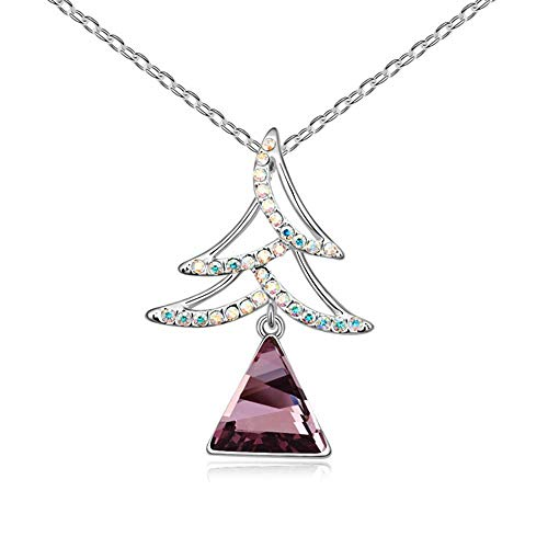 Christmas Tree Crystal Austrian - Mayanyan Fashion Austrian Crystal Christmas Tree Pendant Necklace Lady Gift