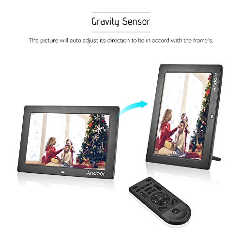 LLC-POWER Digital Photo Frame 7-inch LCD Screen Widescreen HD 16:9 Digital Photo Frame Support MP3 MP4 Video Player Calendar Random Playback Mode with Remote Control ,White Upgrade Edition