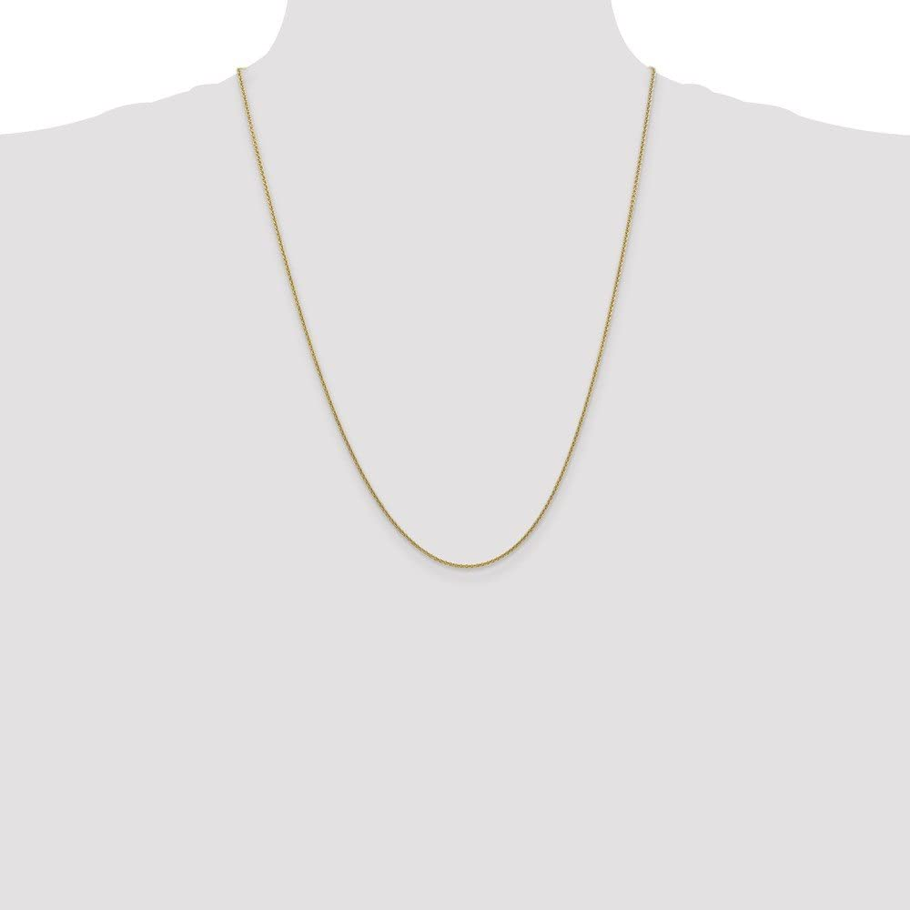 Solid 10K Gold 1.5mm Cable Chain Anklet