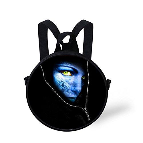 Circle for Stylish Girls FancyPrint Backpack Bag Print Round Nyec0335i Women for SUYAH