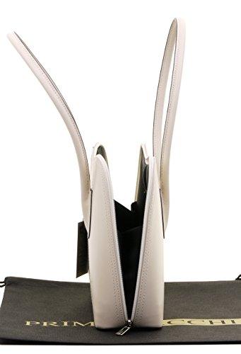 de protection manche italien Comprend fait à sac marque sac à cabas lisse bandoulière long style Grab à sac main de en un main cuir Primo ou rangement classique Cassé Blanc de de Sacchi 457qcwf