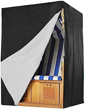 AMDHZ Muebles Jardín Personalizable Impermeable Armario Silla Jardin Cubiertas for Muebles Exterior, Negro, 3 Tamaños (Color : Negro, Size : 155x170x105cm): Amazon.es: Hogar