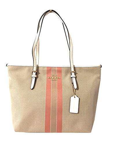 Coach Signature Zip Tote Shoulder Handbag (IM/Light Khaki/Light ()