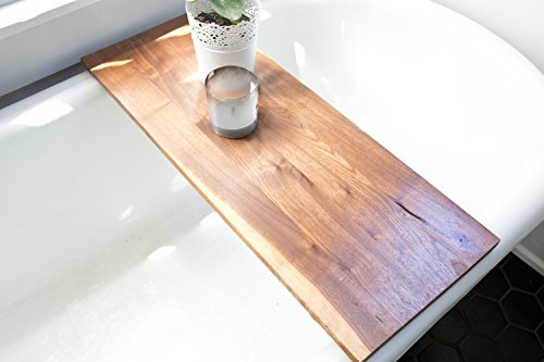 Modern Bathtub Tray Caddy - Wooden Bath Tub Caddy Smooth Natural ...